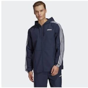 Adidas men's essential 3 stripes windbreaker